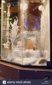 Window Christmas Decorations by Christmas Decorations In Boutique Window Strasbourg France Stock