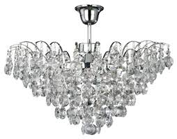 crystal glass semi flush ceiling lights from easy lighting