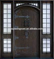 Exterior Wood Door Manufacturers Front Doors 6 Lite Craftsman Unfinished Wood Prehung Unfinished