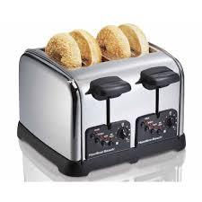 Burning Toaster Hamilton Beach Classic Chrome 4 Slice Toaster 24790