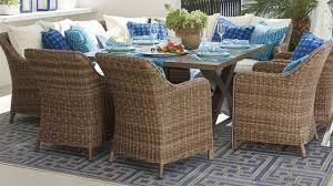 Hampton Bay Fall River 7 Piece Patio Dining Set - beaumont modular dining dining sets patios and outdoor living