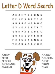 alphabet word search puzzles letter d printable word search