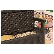 Suncast Patio Storage Bench Suncast Elements Resin Patio Storage Loveseat Target