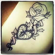 Locket Tattoo Ideas Heart Locket Rose Tattoo Maybe Just Maybe Cool Stuff