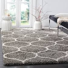 amazon com safavieh hudson shag collection sgh280b grey and ivory