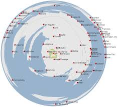 Map Of Chicago Airport Log Azimuthal Maps Matt Roughan