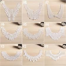 applique in cotto 2pc frete grátis new chegada colarinho lace moda renda de algodão