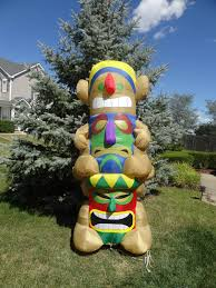image rare gemmy inflatable airblown 8 foot tiki totem pole luau