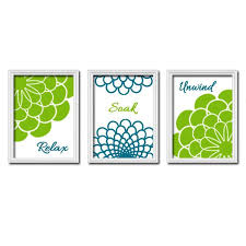 Lime Green Bathroom Accessories by 81 Best Wall Art Images On Pinterest Flower Stencils Wall