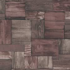 Faux Wood Wallpaper by Erismann Wooden Block Pattern Wallpaper Wood Effect Textured 7354 11