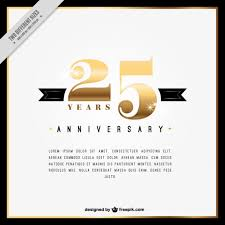 twenty fifth anniversary twenty fifth anniversary innvitation vector free