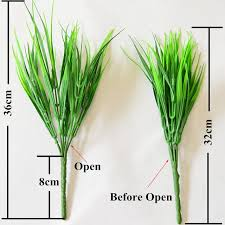 aliexpress com buy big sale 7 fork green grass artificial plants