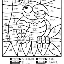 multiplication color by number printable worksheets give the best