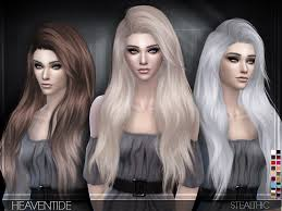 sims 3 hair custom content sims 4 hairs stealthic heaventide hairstyle