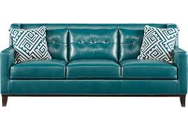 Turquoise Leather Sofa Sofa Genuine Leather Couches Sofa Living Room