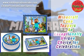 minecraft edible cake topper minecraft cake toppers an exceptionally unique choice for