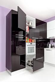 kitchen room design hairy microwave cupboard glass door panel