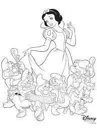 disney princess snow white 6 7 dwarves coloring