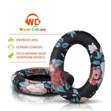 Bose Ear Cushion Replacement Replacement Earpads For Bose Headphones Black Floral U2013 Wicked