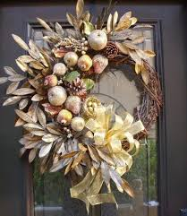 Outdoor Christmas Wreaths by Modern Fall Wreaths Sugared Fruit Christmas Wreath Della Robbia