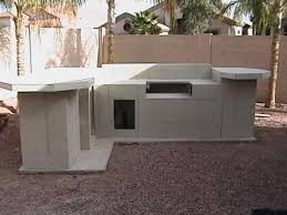 diy outdoor kitchen concrete board sheathing maybe stucco how