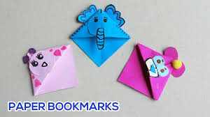 crafts with paper cute animal bookmarks arts for kids paper