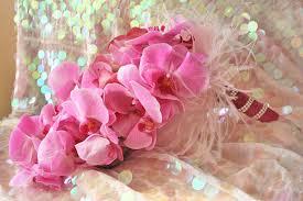 Orchid Bouquet Monochromatic Wedding Flowers Bridal Bouquet Magenta Purple Orchid