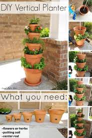 Vertical Flower Bed - save space in your home or garden by creating vertical planters