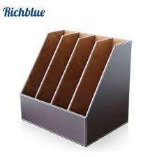 file holder for desk 4 slots desk file document holder organizer rack brown in storage