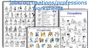 english teaching worksheets jobs occupations professions