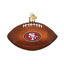 san francisco 49ers football ornament callisters christmas