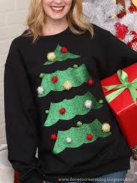 glitter tree sweater ilovetocreate
