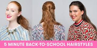cute hairstyles you can do in 5 minutes 8 back to school hairstyles you can do in 5 minutes or less