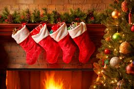 christmas stockings u2013 fireplace u2013 happy holidays