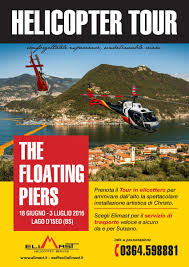 Floating Piers by The Floating Piers Helicopter Tour Elimast Helicopter Service