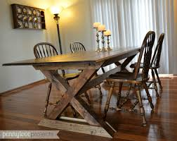 Pottery Barn Dining Room Table Diy Pottery Barn Inspired Farmhouse Table The Weathered Fox