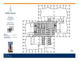 willis tower floor plans chicago il usa