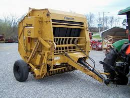 used vermeer 505 super i round baler 5x5 bale size can ship