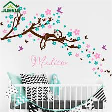 online shop personalize baby name wall decal cherry blossom branch online shop personalize baby name wall decal cherry blossom branch wall sticker dream monkey flower tree branches wall art vinyl murals j87 aliexpress