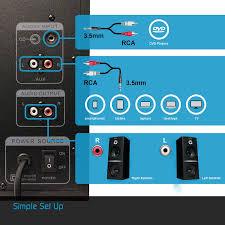 amazon com arion legacy ar504lr bk 2 1 speaker system with