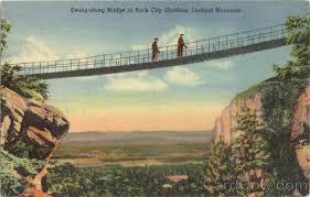 swing along bridge lookout mountain rock city gardens tn