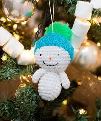 amigurumi snowman ornaments