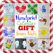 handprint calendar 15 homemade gift ideas kids can make