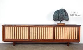 George Nakashima Furniture by Lot 095 Triple Sliding Door Room Divider George Nakashima