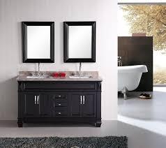 Black Mirror Bathroom Cabinet Bold Black Bathroom Vanity For With Enchanting Look