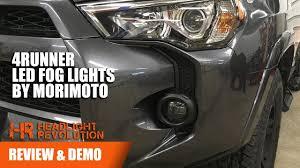 morimoto xb fog lights morimoto xb led fog light toyota 4runner review and demo headlight