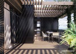 architecture outdoor dining room modern residence by yodezeen in