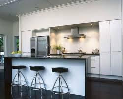 white kitchen cupboards black bench waterfall island black bench contemporary kitchen
