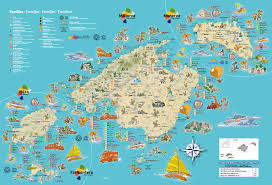 Menorca Spain Map by Villas Petra Mallorca