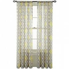 gray white and yellow sheers from jcp my next living room theme